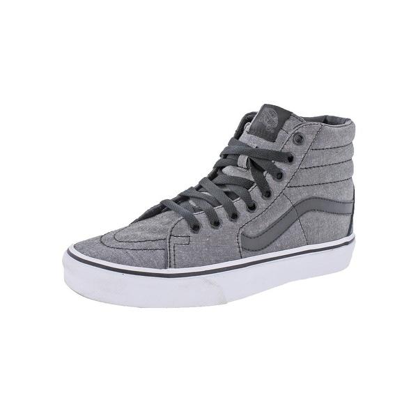 Vans Mens SK8-HI Skate Shoes Chambray Ribbed Collar - 5 medium (d)