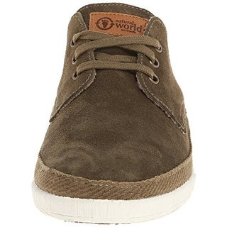 Natural World Mens Suede Organic Cotton Fashion Sneakers