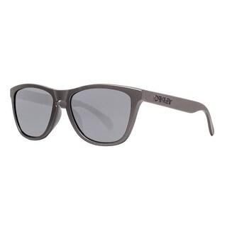 Oakley Frogskins OO9245-35 Metals Col Lead Gray Black Iridium Square Sunglasses - lead gray - 54mm-17mm-138mm