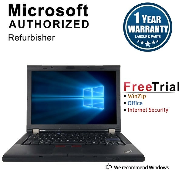 "Refurbished Lenovo ThinkPad T410 14.1"" Laptop Intel Core I5 520M 2.4G 4G DDR3 160G DVDRW Win 7 Professional 64 1 Year Warranty"