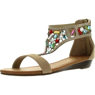 Forever Womens Filosia-91 Multi Colored Jewel Fashion Sandals