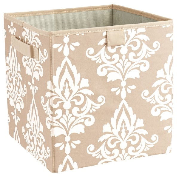ClosetMaid 16087  2 - Handle Fabric Storage Bin, French Vanilla, Polyester