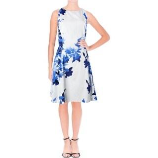 Lauren Ralph Lauren Womens Teva Neroli Cocktail Dress Floral Print Sleeveless