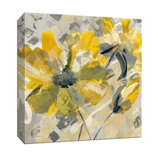 """PTM Images 9-146853  PTM Canvas Collection 12"""" x 12"""" - """"Buttercup I"""" Giclee Flowers Art Print on Canvas"""
