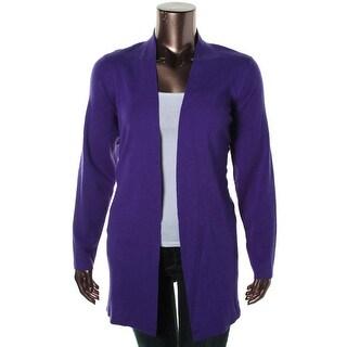Eileen Fisher Womens Plus Woman Merino Wool Open Front Cardigan Sweater - 1X