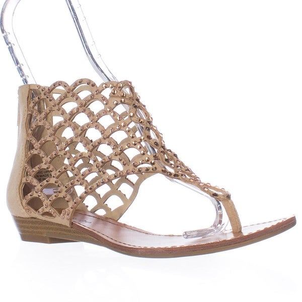ZIGI Mela Caged Gladiator Flat Sandals, Cinnamon