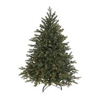 4.5' Hunter Fir Pre-Lit Artificial Christmas Tree - Clear Lights - green
