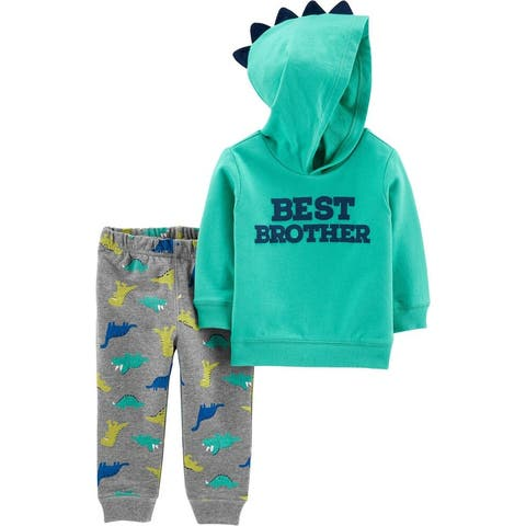Carter's 2-Piece Best Brother Hoodie & Dinosaur Jogger Set, 9 Months