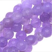 Candy Jade Gemstone Beads, 4mm Round, 15 Inch Strand, Light Purple