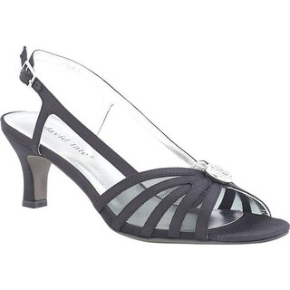 David Tate Women's Cheer Slingback Black Satin