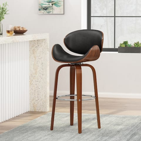 Jakin Indoor Upholstered Swivel Barstool by Christopher Knight Home