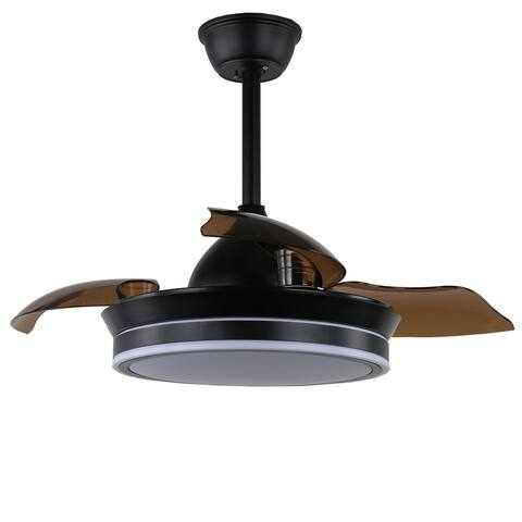 """36"""" Modern Retractable Ceilng Fan with LED Light and Remote"""