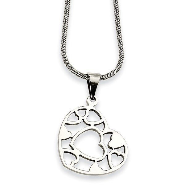 Chisel Stainless Steel Heart Pendant Necklace - 18 in