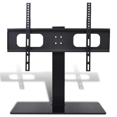 vidaXL TV Bracket w/ Base Free Standing Tilt Black LCD LED Plasma Wall Mount