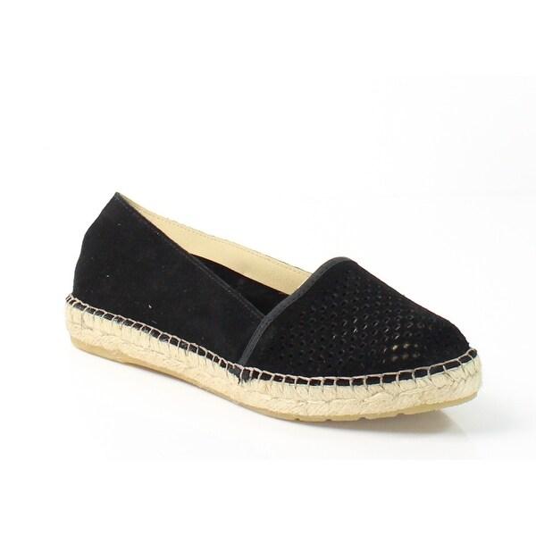 Miz Mooz NEW Black Angela Shoes Size 8.5M Perforated Espadrilles Suede