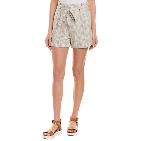 4Our Dreamers High-Waist Linen-Blend Short