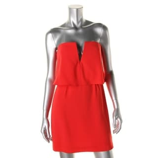 BCBG Max Azria Womens Kate Strapless Popover Party Dress