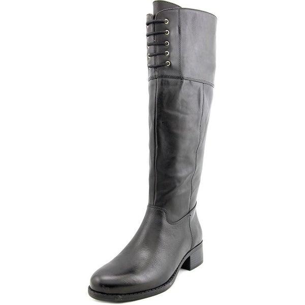 Isaac Mizrahi Leslie Round Toe Leather Knee High Boot