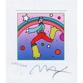 """Cosmic Jumper Detail I, Ltd Ed Litho (Mini 3.5"""" x 3""""), Peter Max"""