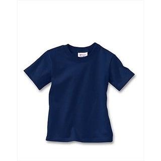 Hanes T120 Comfortsoft Crewneck ToDDler T-Shirt Size 4T, Navy Blue