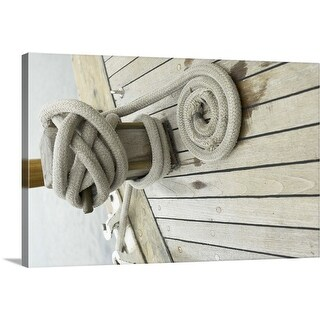 """""""Rope on a dock"""" Canvas Wall Art"""