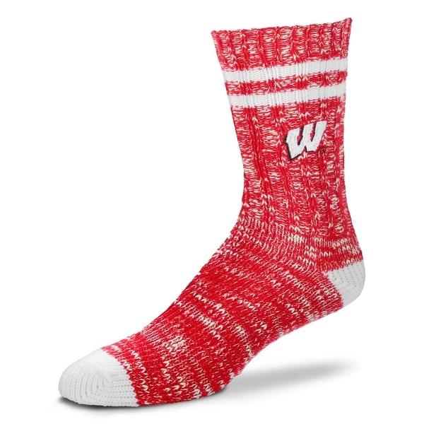 Wisconsin Badgers Alpine Crew Socks, Medium