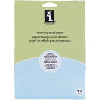Inkadinkado Stamping Mask Paper 12/Pkg-