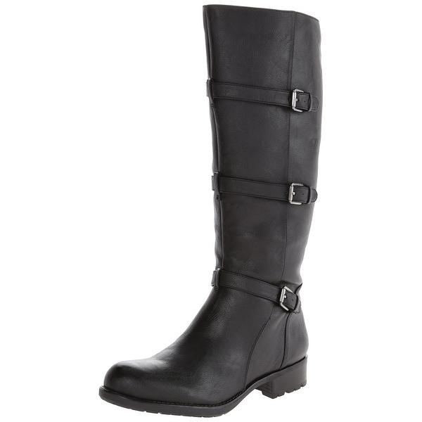 Franco Sarto NEW Black Womens Shoes Size 8M Petite Motocycle Boot