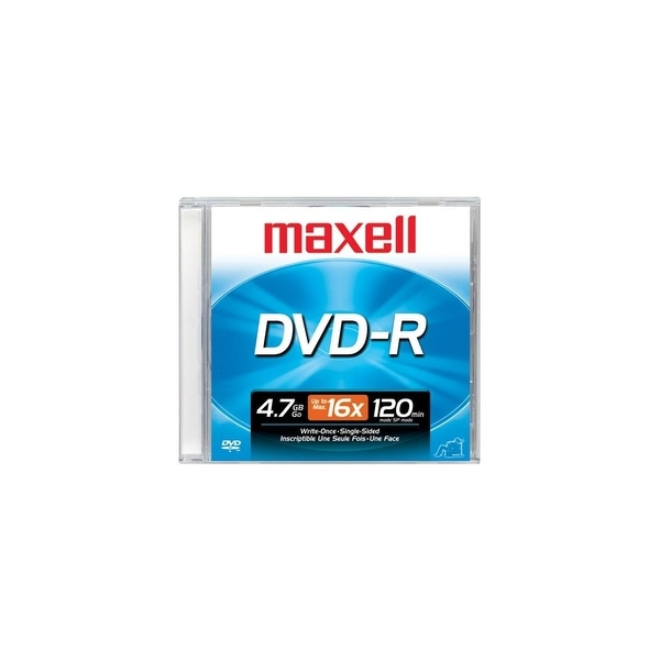 Maxell 638000 Maxell DVD Recordable Media - DVD-R - 16x - 4.70 GB - 1 Pack Jewel Case - 120mm - 2 Hour Maximum Recording Time