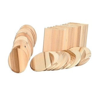 Walnut Hollow Basswood Assorted Shape Wood Plaque Assortment, Assorted Size, 5/16 in Thickness, Pack of 72