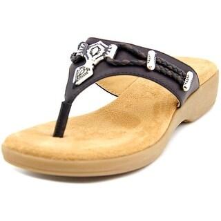 Rialto Bailee Women Open Toe Synthetic Black Sandals