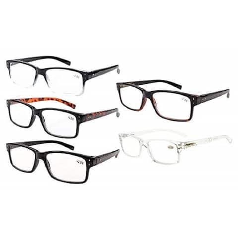 Eyekepper Reading Glasses 5-pack Vintage Classic Frame Readers Women Men