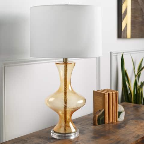 "Laurene 28"" Mid-Century Genie Glass Table Lamp - 28""H x 15""W x 15""D"
