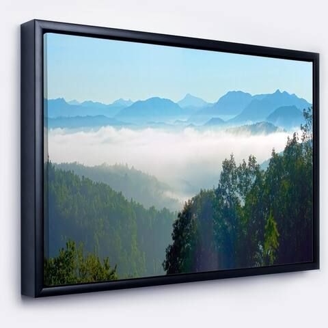 Designart 'Morning in Blue Ridge Parkway' Landscape Framed Canvas Art Print