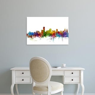 Easy Art Prints Michael Tompsett's 'Adelaide Australia Skyline' Premium Canvas Art