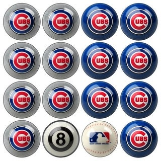 MLB Chicago Cubs Baseball Billiard Balls Complete Set of 16 Balls