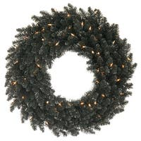 "36"" Black Fir Wreath DuraL 100CL 320T"
