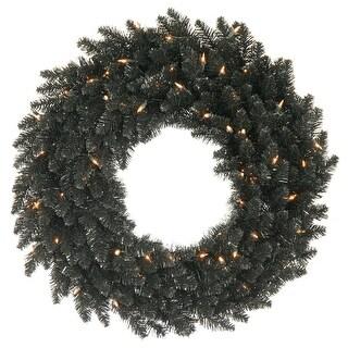 """36"""" Black Fir Wreath DuraL 100CL 320T"""