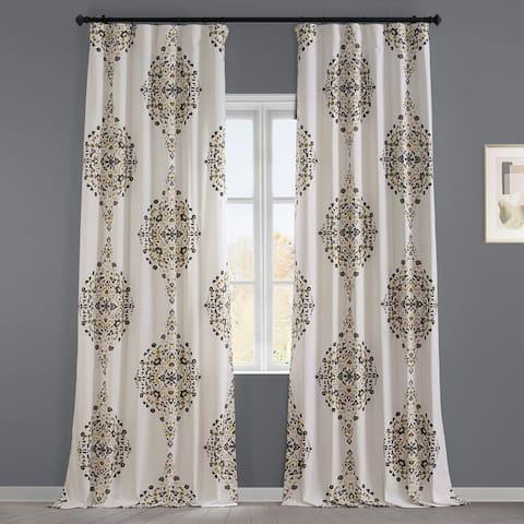 Exclusive Fabrics Kerala Printed Cotton Twill Single Curtain Panel