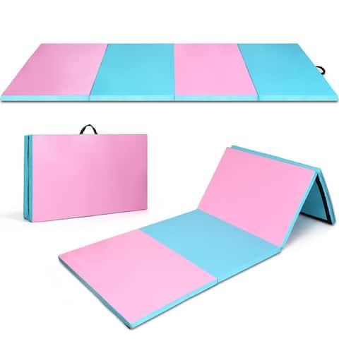 Costway 8' x 4' x 2'' Folding Gymnastics Tumbling Gym Mat Stretching
