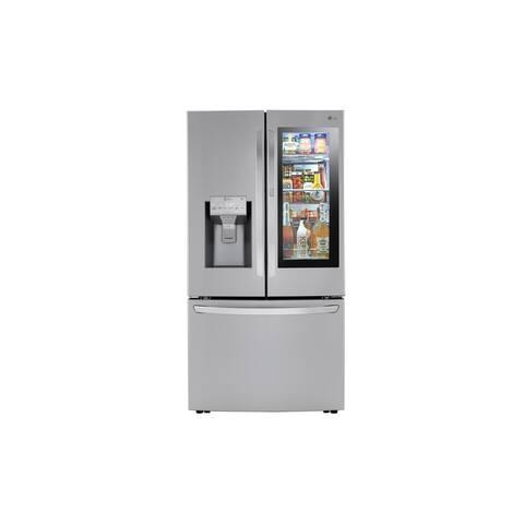LG LRFVC2406S 24 cu. ft. Smart wi-fi Enabled InstaView Door-in-Door Counter-Depth Refrigerator - Stainless Steel