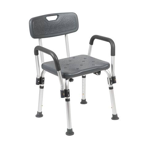 Offex 300 Lb Capacity Adjustable Bath Shower Chair with Depth Adjustable Back