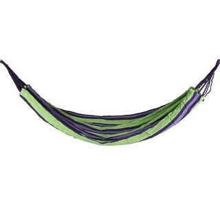 Outdoor Leisure Hiking Camping Colorful Canvas Net Meshy Hammock Sleeping Bed
