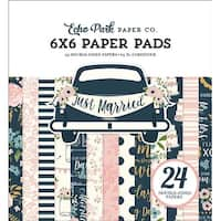 """Just Married; 12 Designs/2 Each - Echo Park Double-Sided Paper Pad 6""""X6"""" 24/Pkg"""