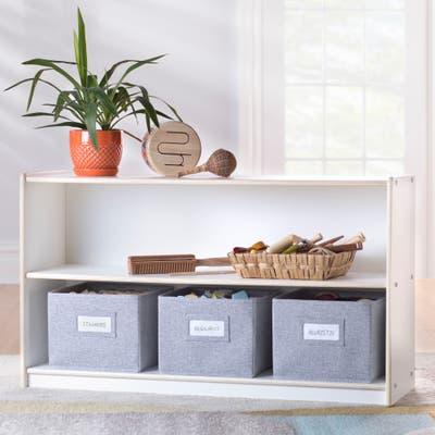 Guidecraft EdQ Essentials Two Shelf Open Storage 24''