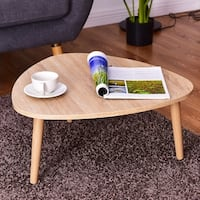 Costway Triangle Top Coffee Table Sofa Side End Accent Table Living Room Furniture - as pic