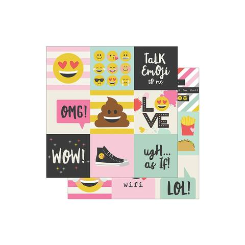 8011 simple stories emoji love paper 12x12 element