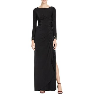 Adrianna Papell Womens Petites Evening Dress Embellished Jersey