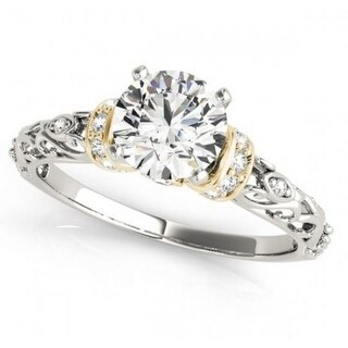 14K White Gold Bridal Engagement Ring 2.00ctw With Round Solitaire - N/A