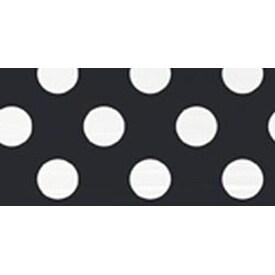 "Midnight Black Decorative Dots - Plastic Tablecover 54""X108"""